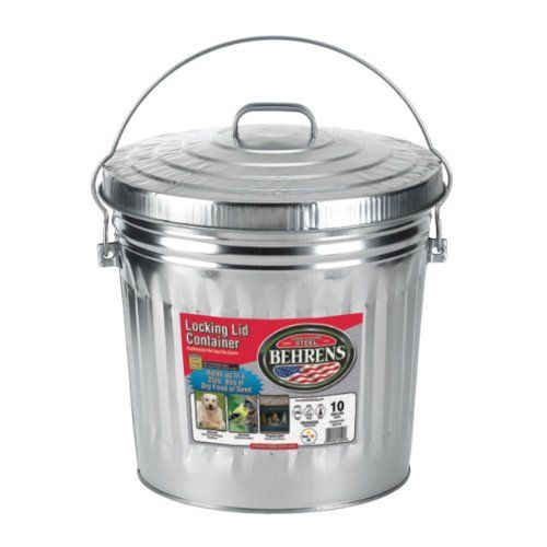 Behrens 6110 10 Gallon Locking Lid Can Dog Food Storage Pet