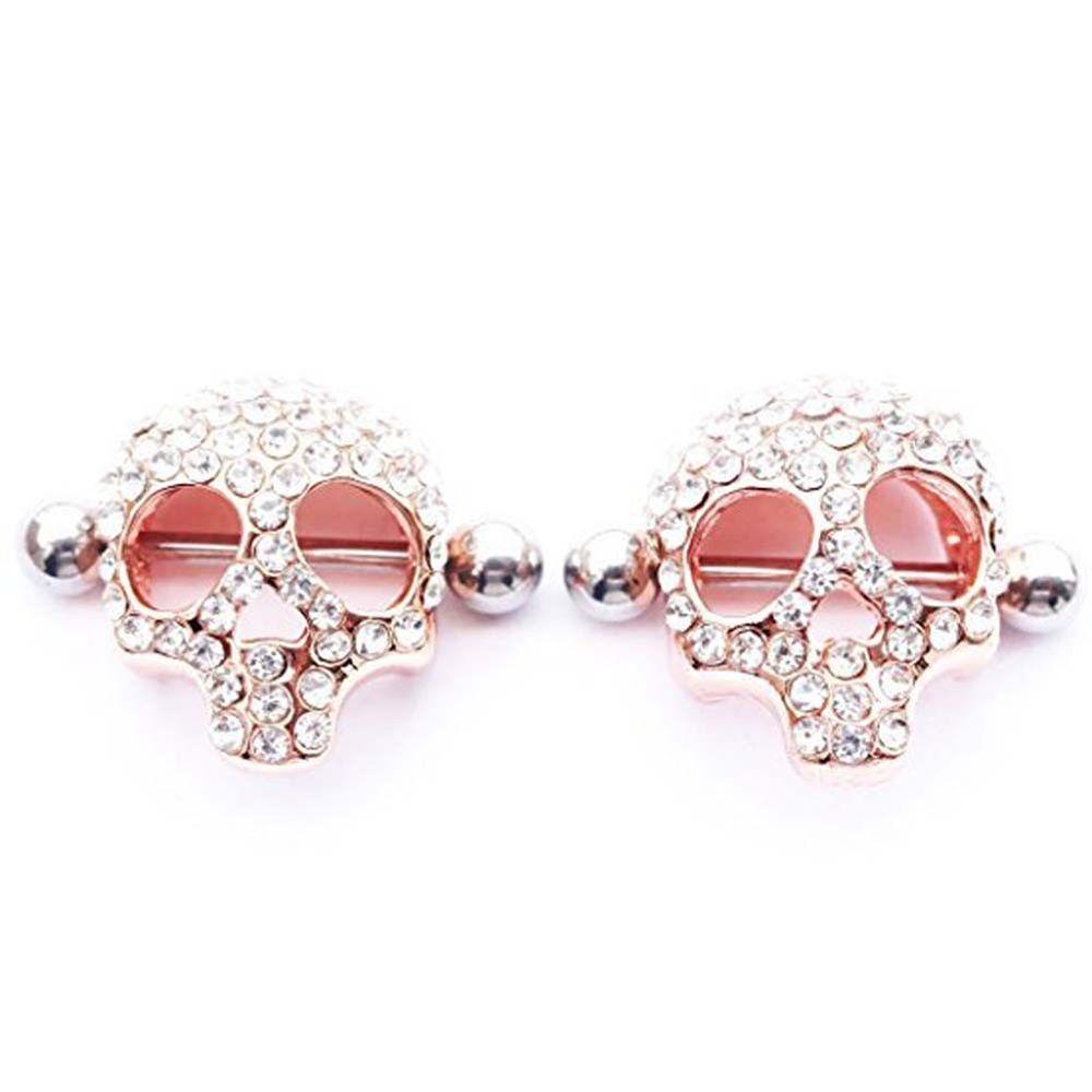 Body piercing jewelry  Women Ladies Rings Skull Nipple Body Piercing Shield Nipplerings
