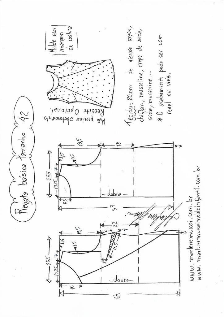 Blusa Regata simples com recorte | DIY - molde, corte e costura ...