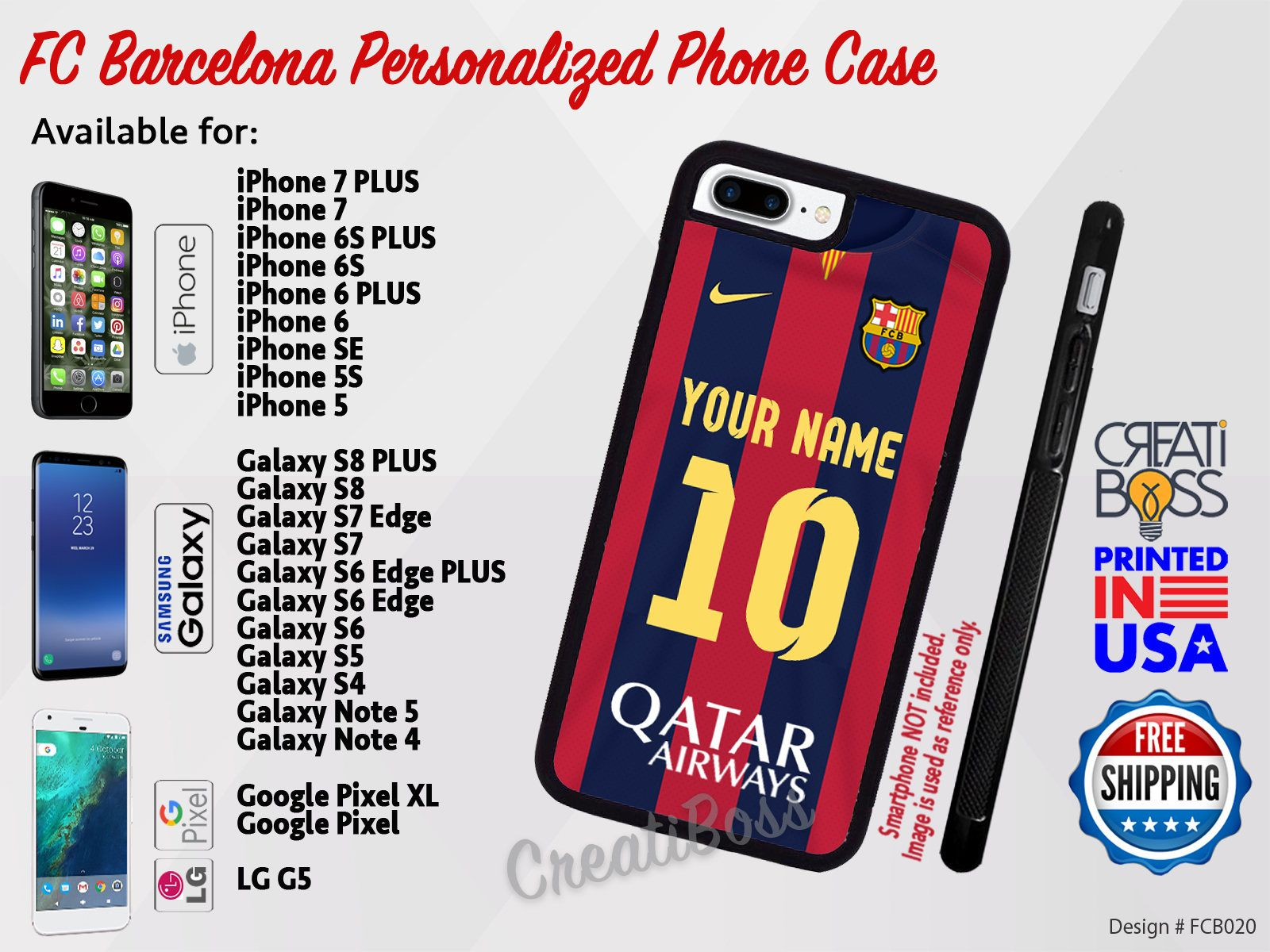 online store ffec1 ed165 FC BARCELONA Personalized - Custom with Your Name & Jersey Number ...