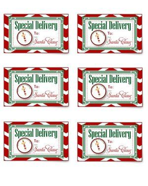 image regarding Free Printable North Pole Special Delivery Printable identified as Unique Shipping Reward Tag towards Santa and the North Pole