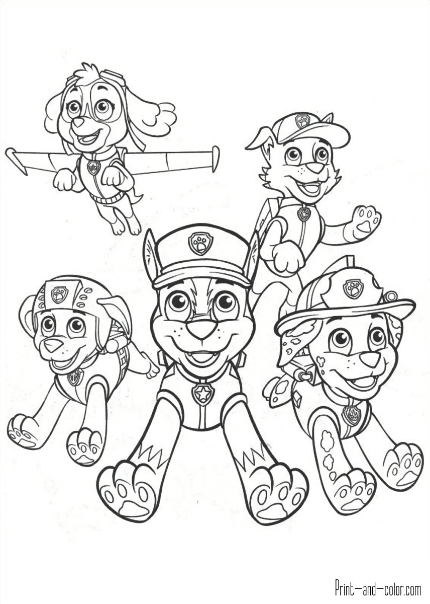 Paw Patrol Ausmalbilder Drucken : There Are Many High Quality Paw Patrol Coloring Pages For Your Kids