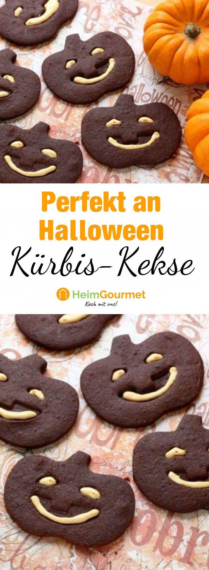 Freche HALLOWEEN-Kekse mit ZUCKERGUSS in KÜRBISFORM