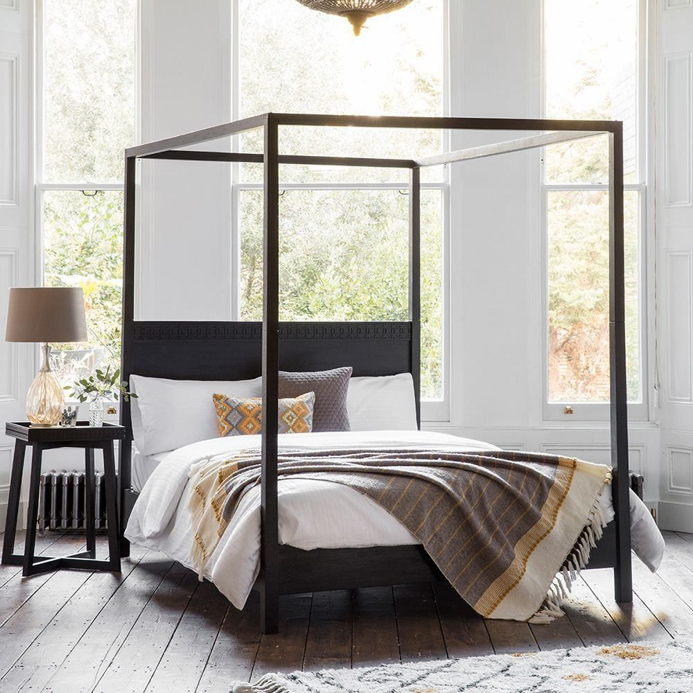 Collection Safari Boutique 4 Poster Bed Frame Mango Wood Mixed ...