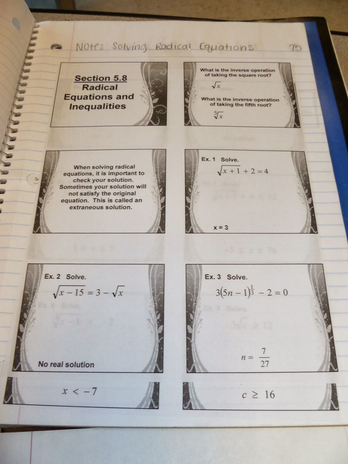 Algebra 2 Pages
