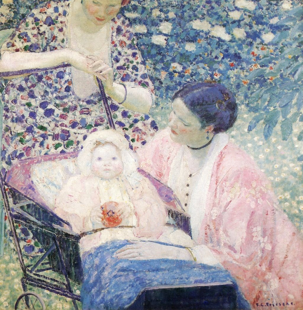 The Athenaeum - The Mother (Frederick Carl Frieseke - )
