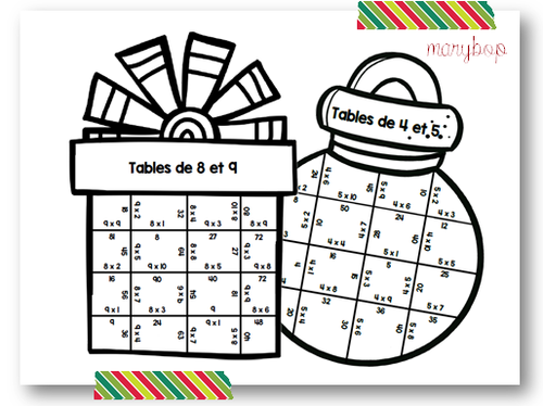 Puzzles de Noel - Multiplications