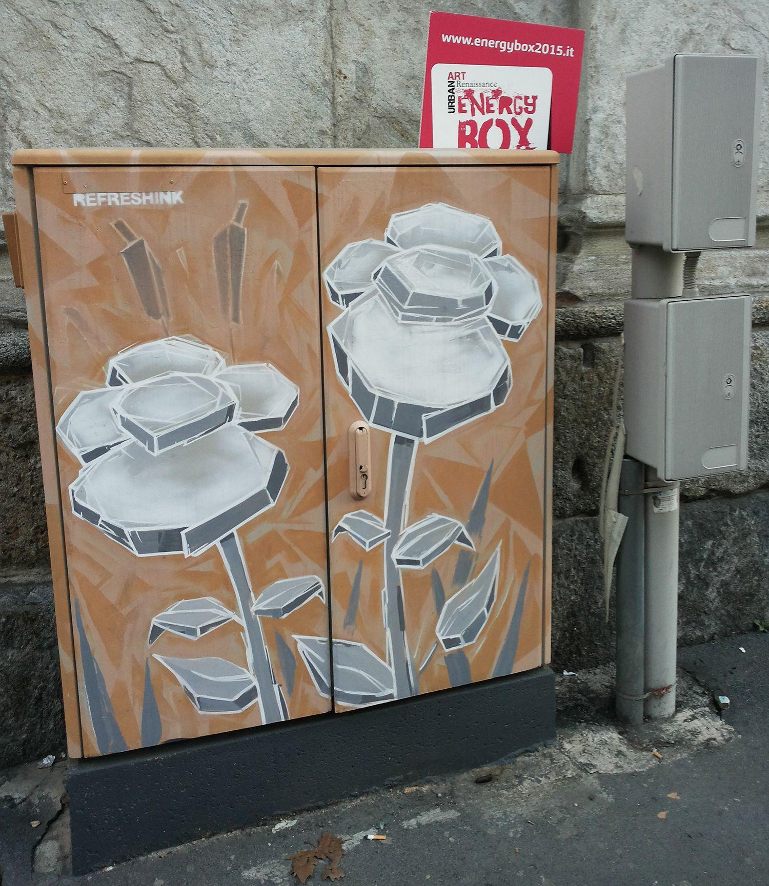 #energybox2015 presso San Maurizio al Monastero Maggiore, corso Magenta by Refreshink #Urbanartrenaissance #StreetArt #SprayPaint #Graffiti