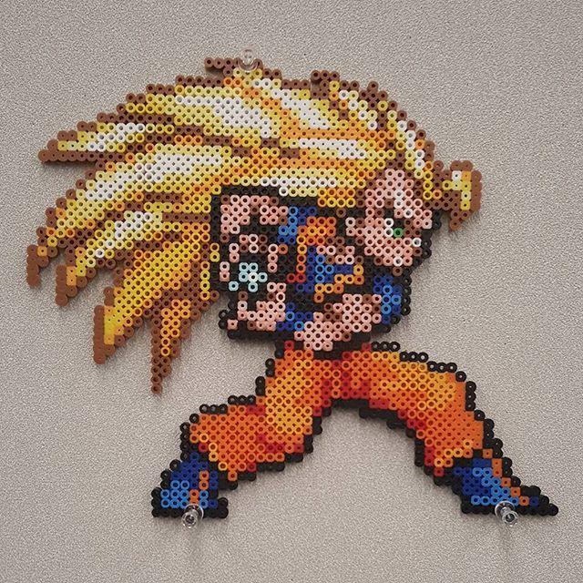 Goku Dragon Ball Z Perler Beads By Meltycreations Mit Bildern
