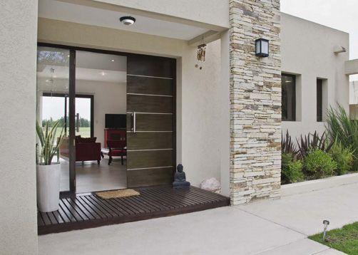 Entrada principal fachadas en 2019 entrada de casas for Fachadas de entradas de casas modernas