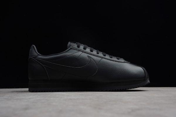 buy popular 9b8c2 cbe9c Nike Classic Cortez Leather Black Black Anthracite 749571-002 On Sale-5