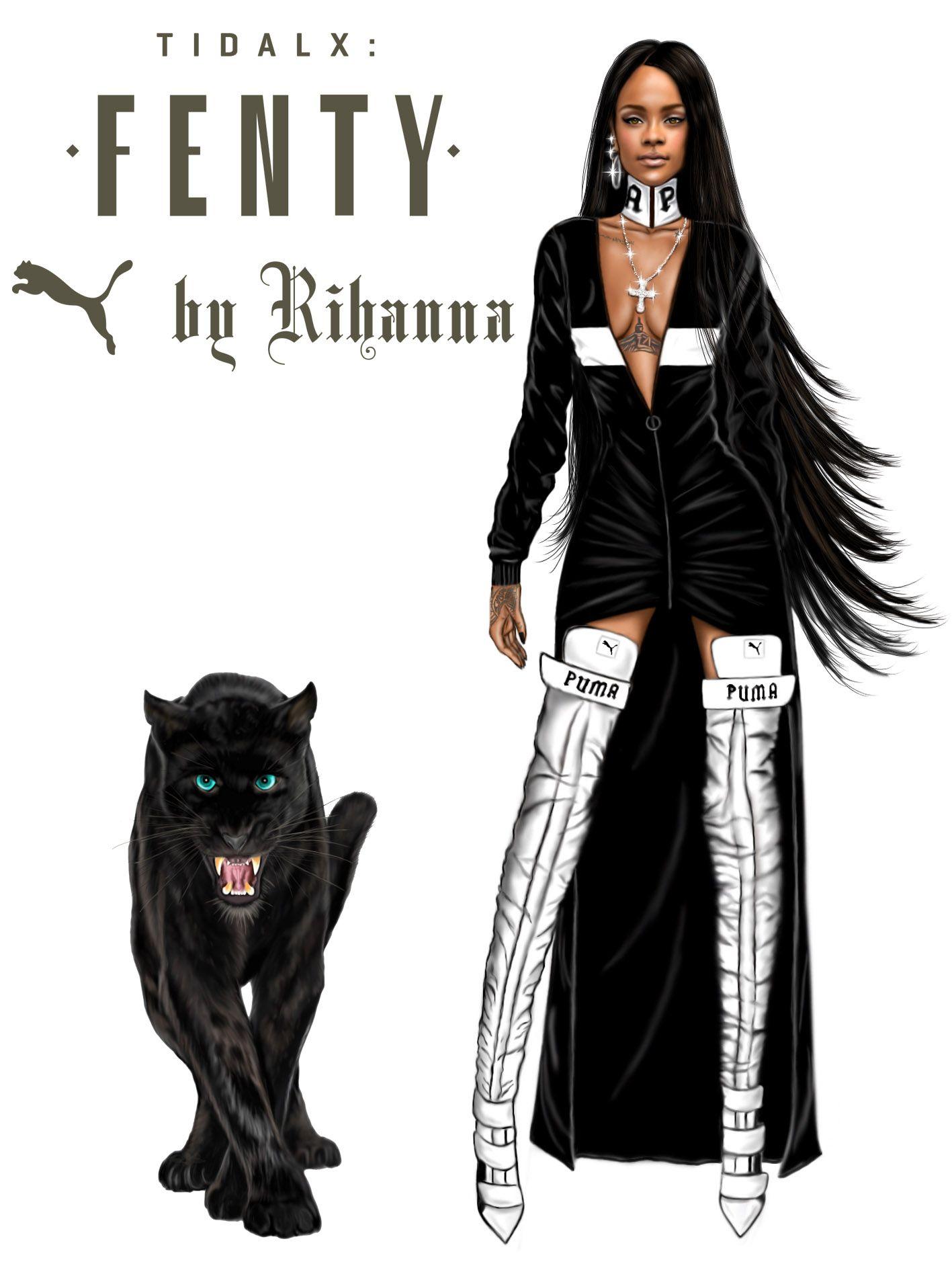 32685c2cab @Rihanna ====> Fenty X Puma collection by Rihanna to Foot Locker in New  York . #Digitaldrawing by @David Mandeiro Illustrations #Rihanna  #Badgalriri ...