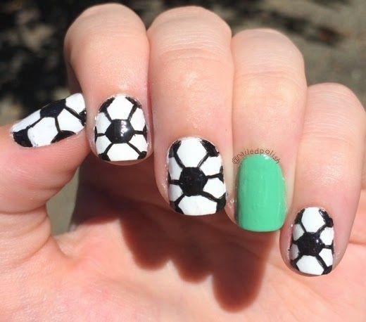 Nailed Polish June 2014 Sports Nails Soccer Nails Nails