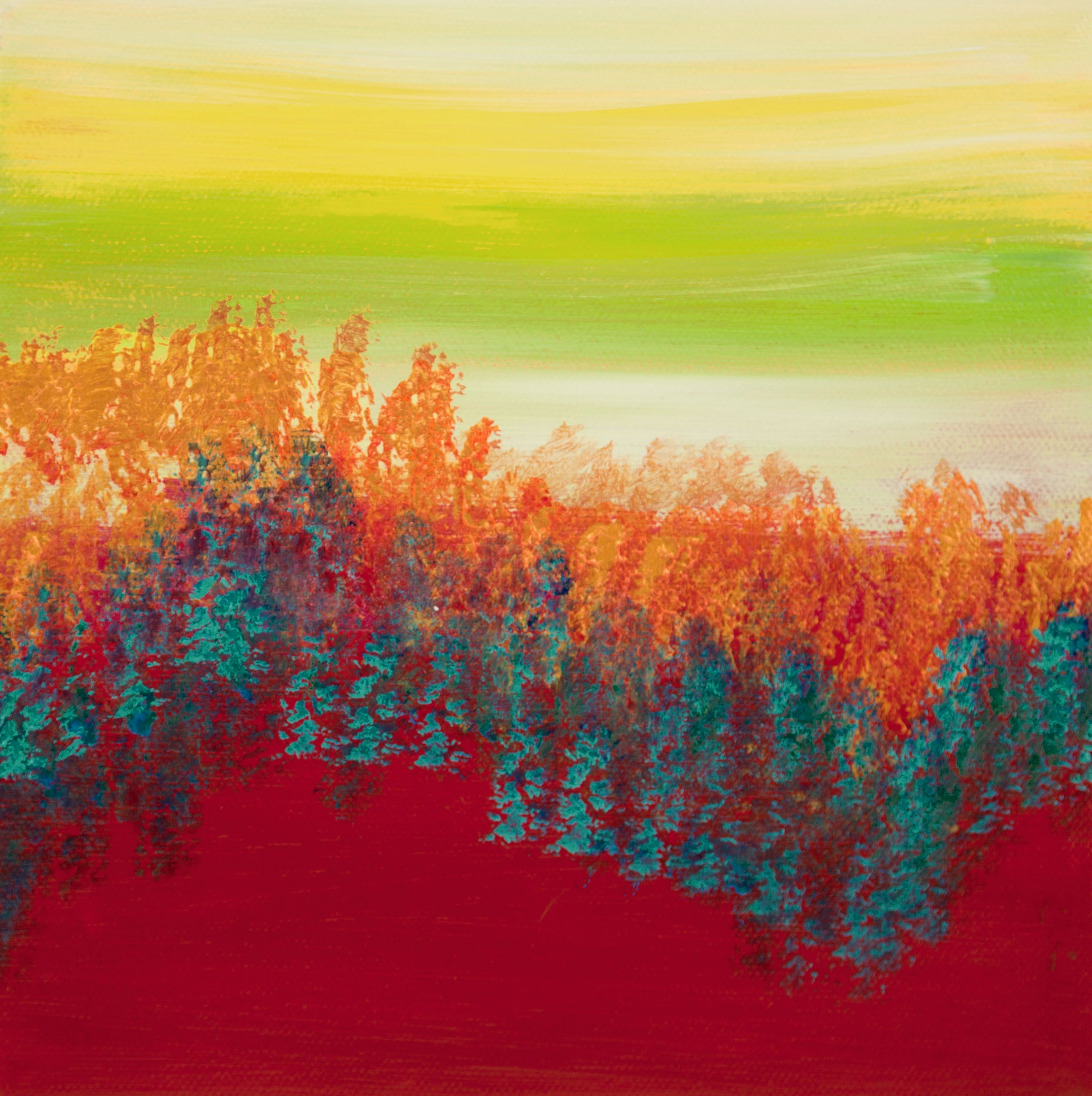 Views Of Nature 24 8x8 Inches Sold Hilary Winfield Portland Fine Art Colorful Abstract Art Abstract Art Diy Abstract Art Inspiration