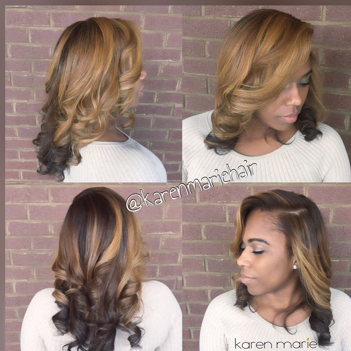 Blonde Hair Natural Hair With Color Natural Press Silk Press