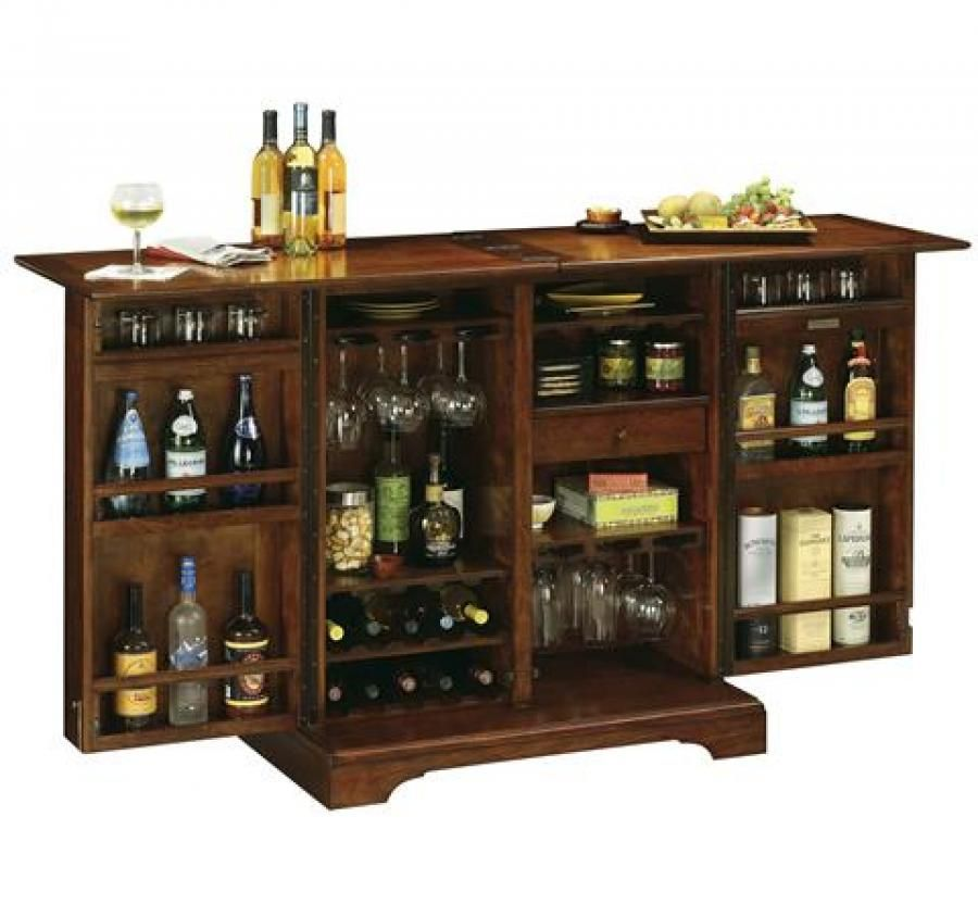 Clockway: Howard Miller Lodi Wine & Bar Cabinet Finished In Americana Cherry - CHM4254