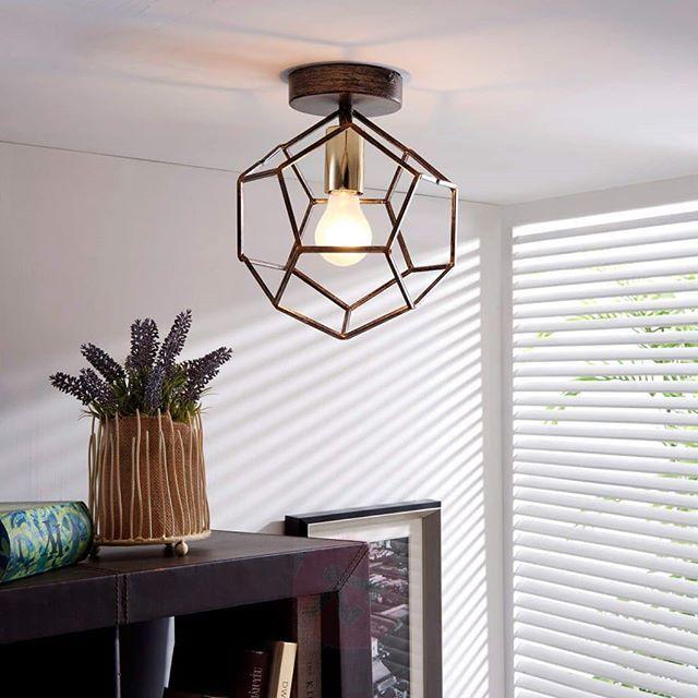Dé eyecatcher voor het plafond; #Lorenza #plafondlamp van #Lampen24 - deckenleuchten wohnzimmer landhausstil