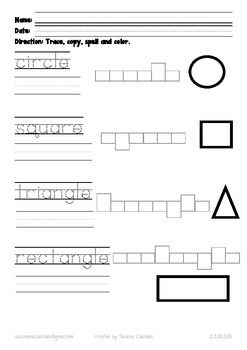 Shapes Writing And Spelling Worksheet Updated2020 Spelling Worksheets Shapes Worksheets Kindergarten Worksheets Free make your own spelling worksheets