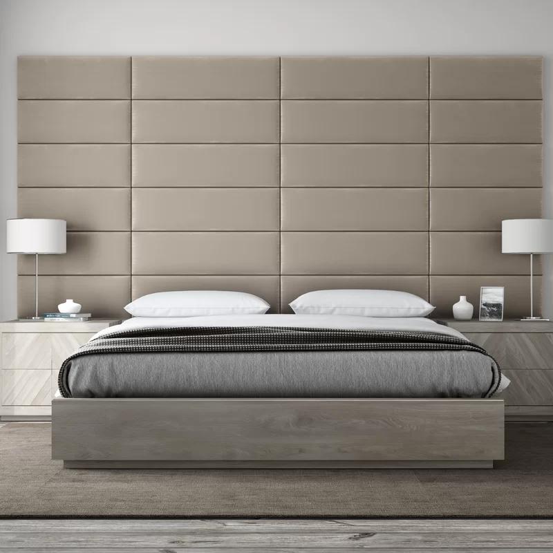 Bernardsville Upholstered Panel Headboard In 2020 Panel Headboard Furniture Modern Headboard