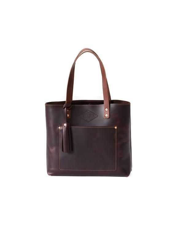 Dark Oxford Brown Leather Tote Bag for Women Gift for Her - Full Grain  Leather - Lifetime Leather 0d6f1b0ad4