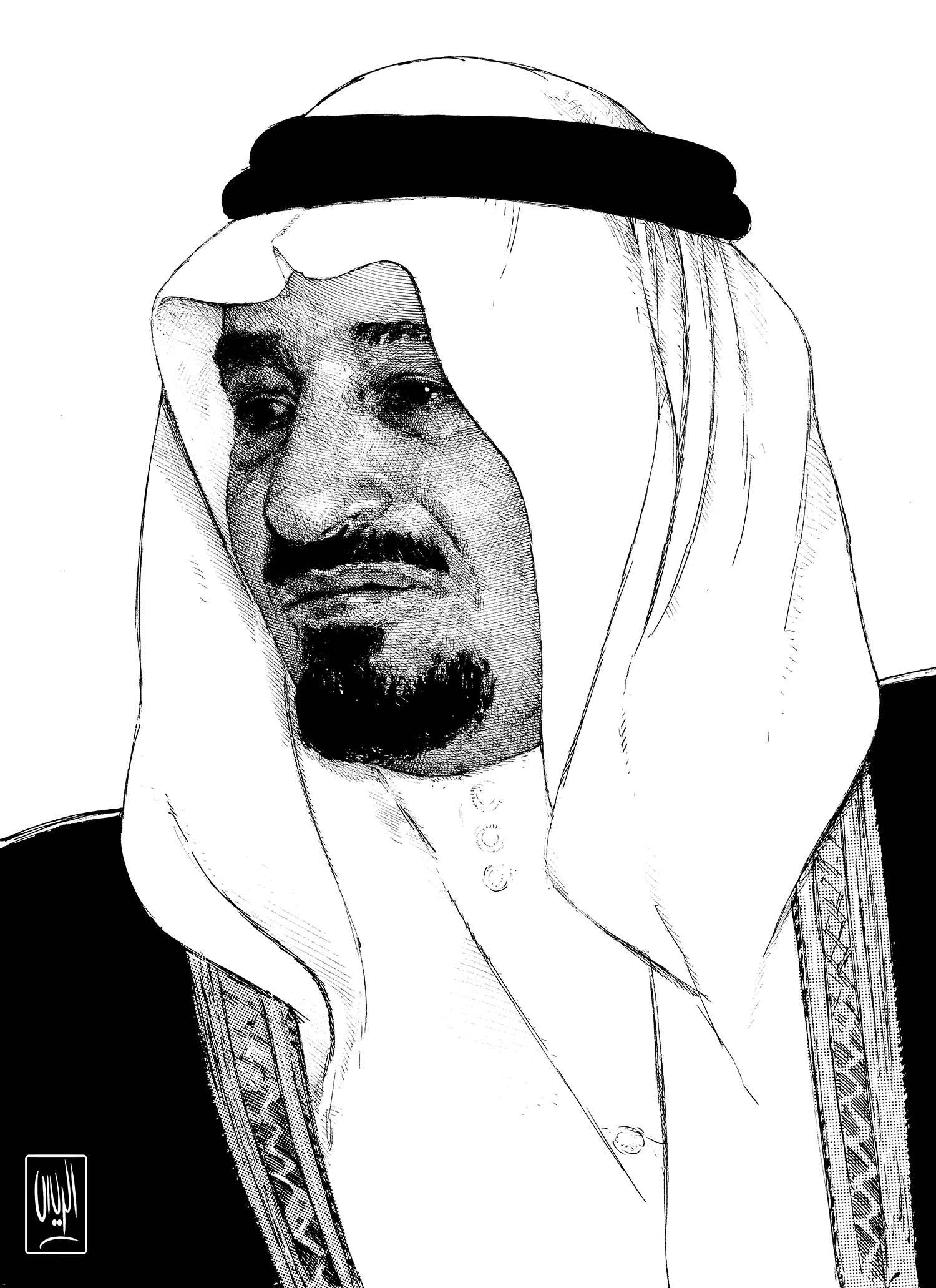 King Khalid Rayes Oil Painting Ink Drawings