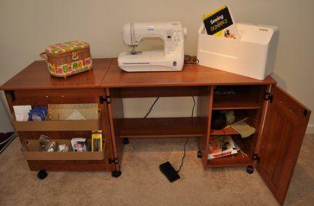 Amazon Com Sauder Sewing Craft Table American Cherry