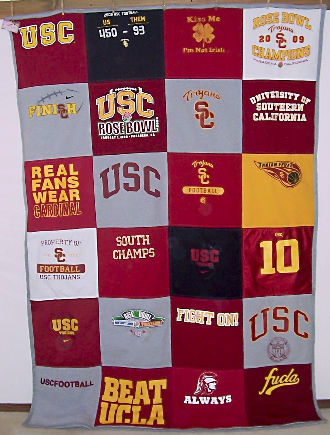 USC T-shirt quilt | T-shirt Quilts | Pinterest | Shirt quilts : t shirt quilt company - Adamdwight.com