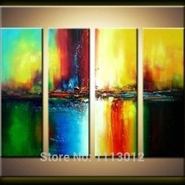 Hot New Sea Landscape Ferry Sailboat Picture Oil Painting On Canvas ...