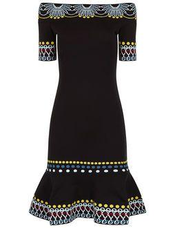Black Day Knit Off Shoulder Dress
