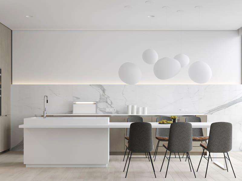 Pleasant M3 Architects Bachelor Interior Design Kitchen Modern Bralicious Painted Fabric Chair Ideas Braliciousco