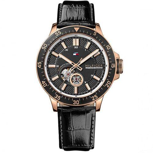 9c2990f7848 Relógio Masculino Tommy Hilfiger com pulseira de Couro Preto - 1791057