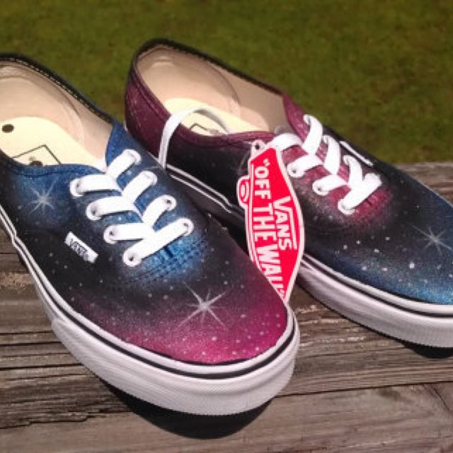 either buy or make these.. #galaxy #sneakers #vans #cute