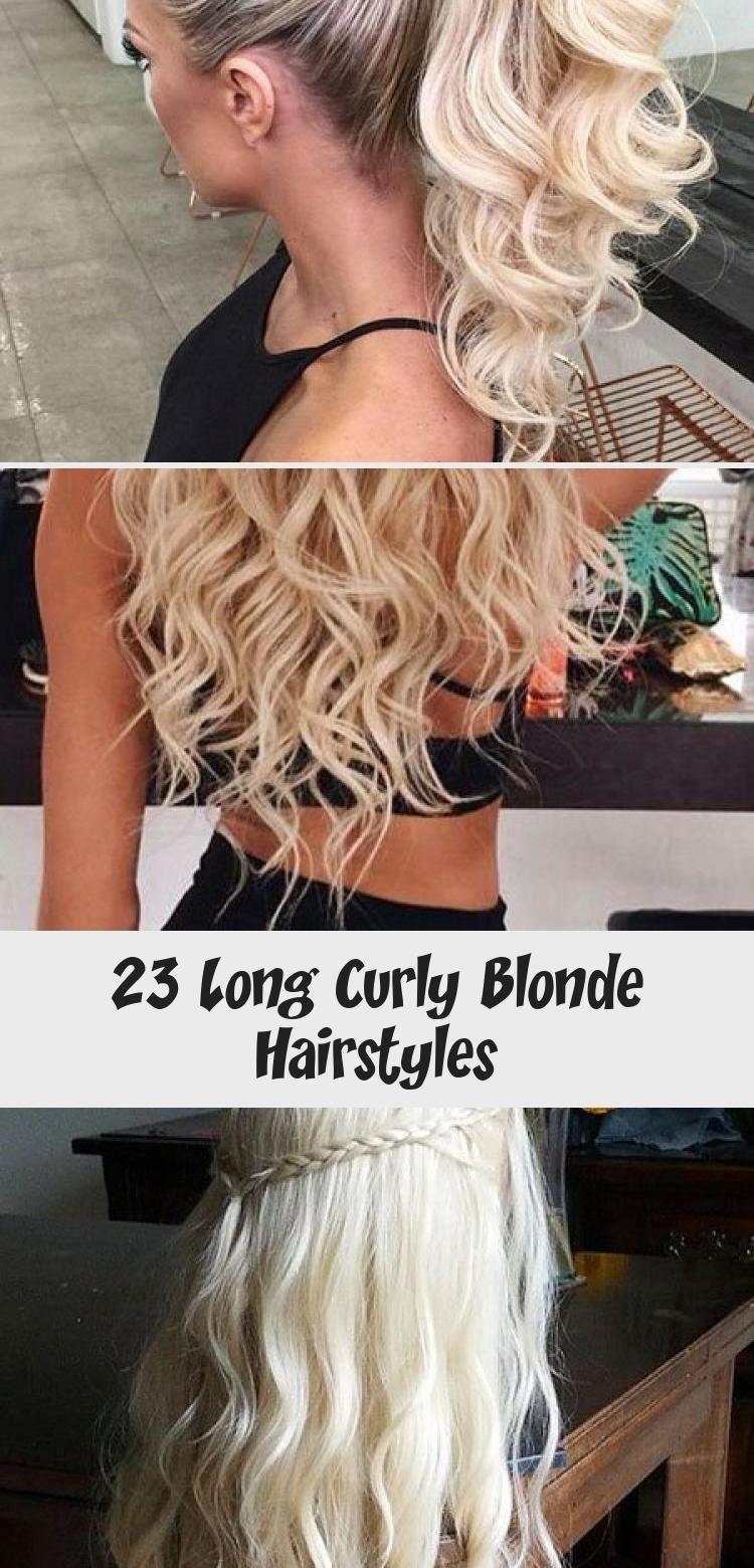 23 lange lockige blonde Frisuren, #blond #curly #haarstyles #HowToGetcurlyhair # …