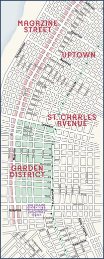 map garden district new orleans New Orleans Garden District New Orleans Neighborhoods New map garden district new orleans