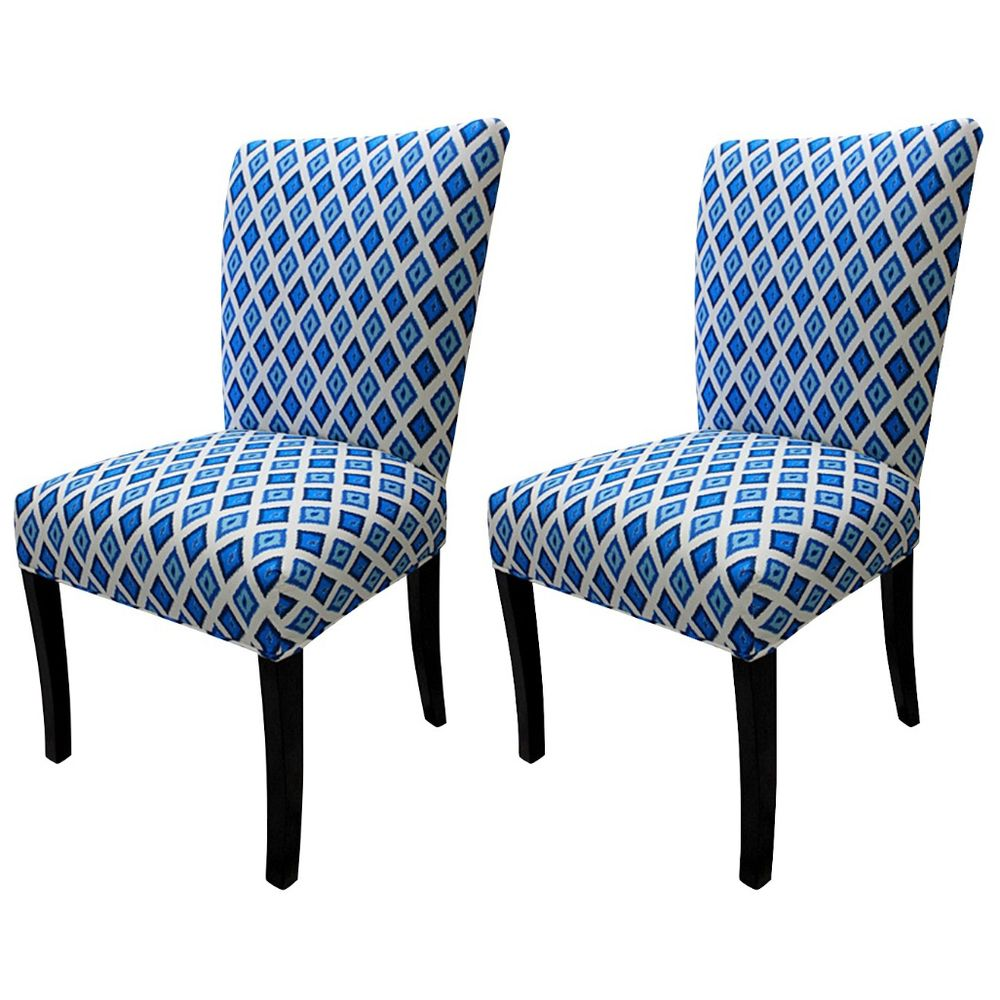 Julia Carnival Blue Fan Back Chairs (Set of 2)   Overstock.com ...