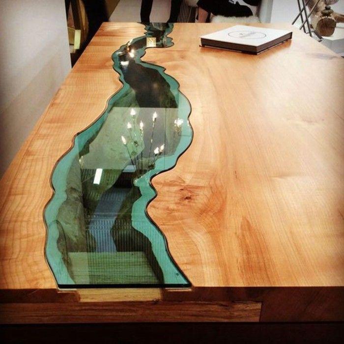 Diy Moebel Diy Wohnideen Tisch Aus Holz Und Glas Selber Bauen ... Aus Naturmaterialien Bauen