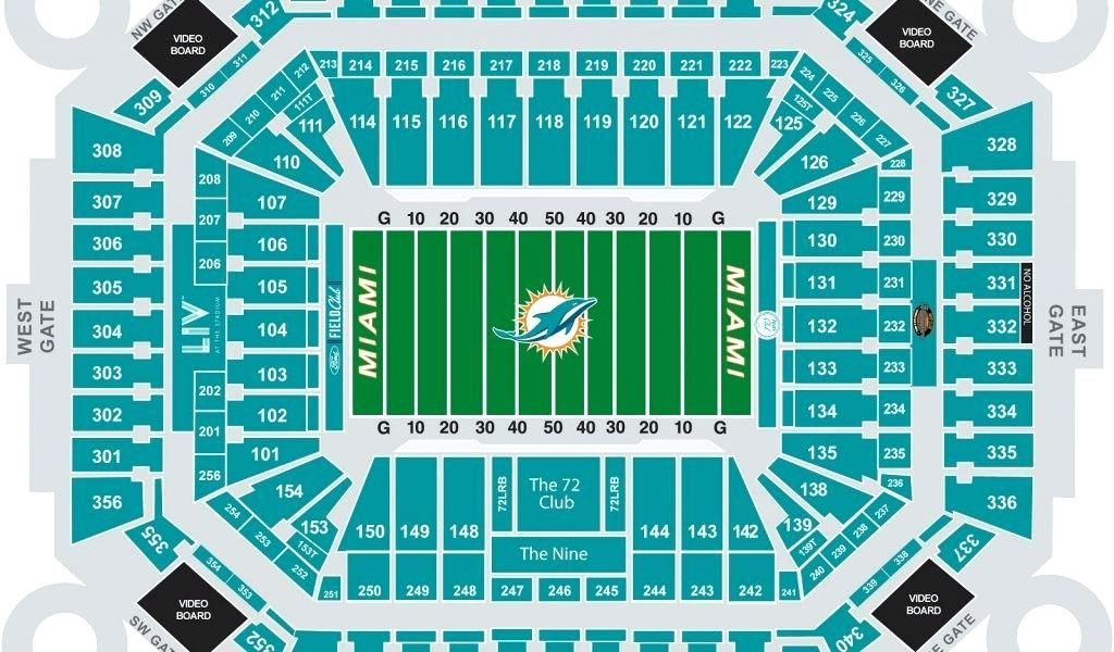 Miami Dolphins Stadium Seating Eagles Stadium Seating Chart Inspirational Hard Rock Stadium Dolphins Football Sta Sun Life Stadium Eagle Stadium Miami Dolphins