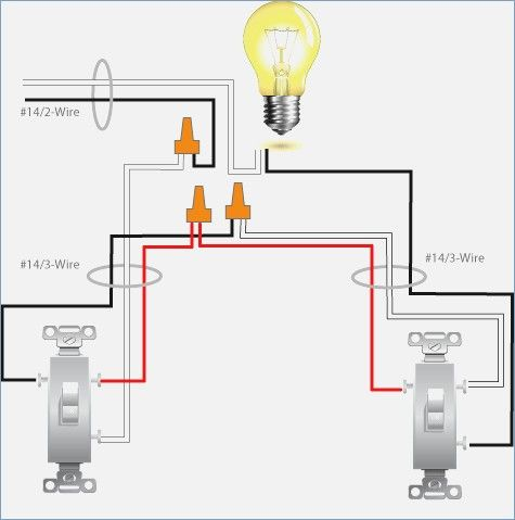 Wiring double light switch diagram | Light switch wiring, Home electrical  wiring, One light | Wiring Two Switches One Light Diagram |  | Pinterest