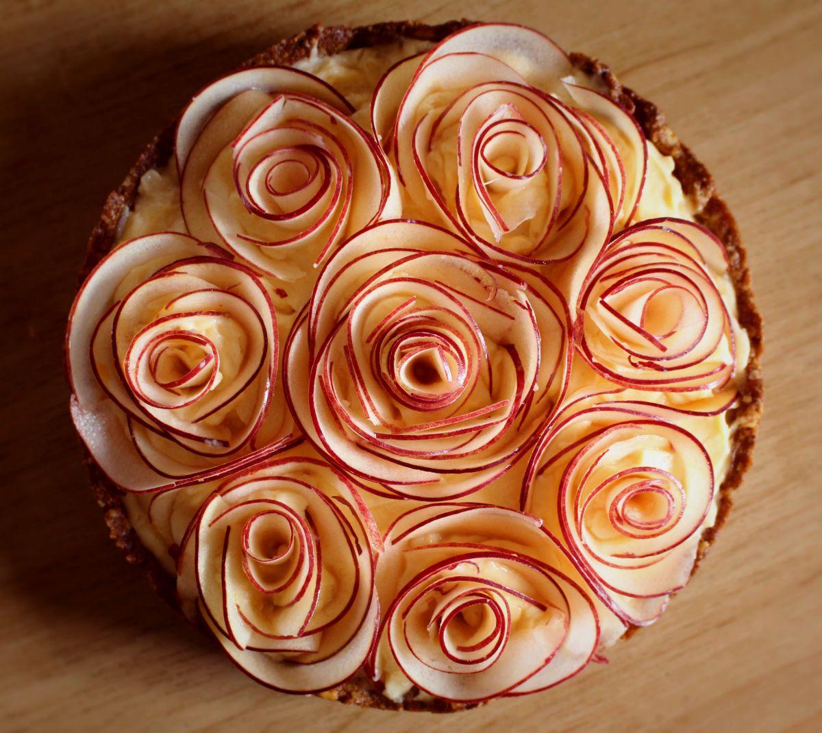 Rosen-Apfelkuchen Nr. 2 #blätterteigrosenmitapfel