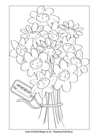 mother s day colouring pages from