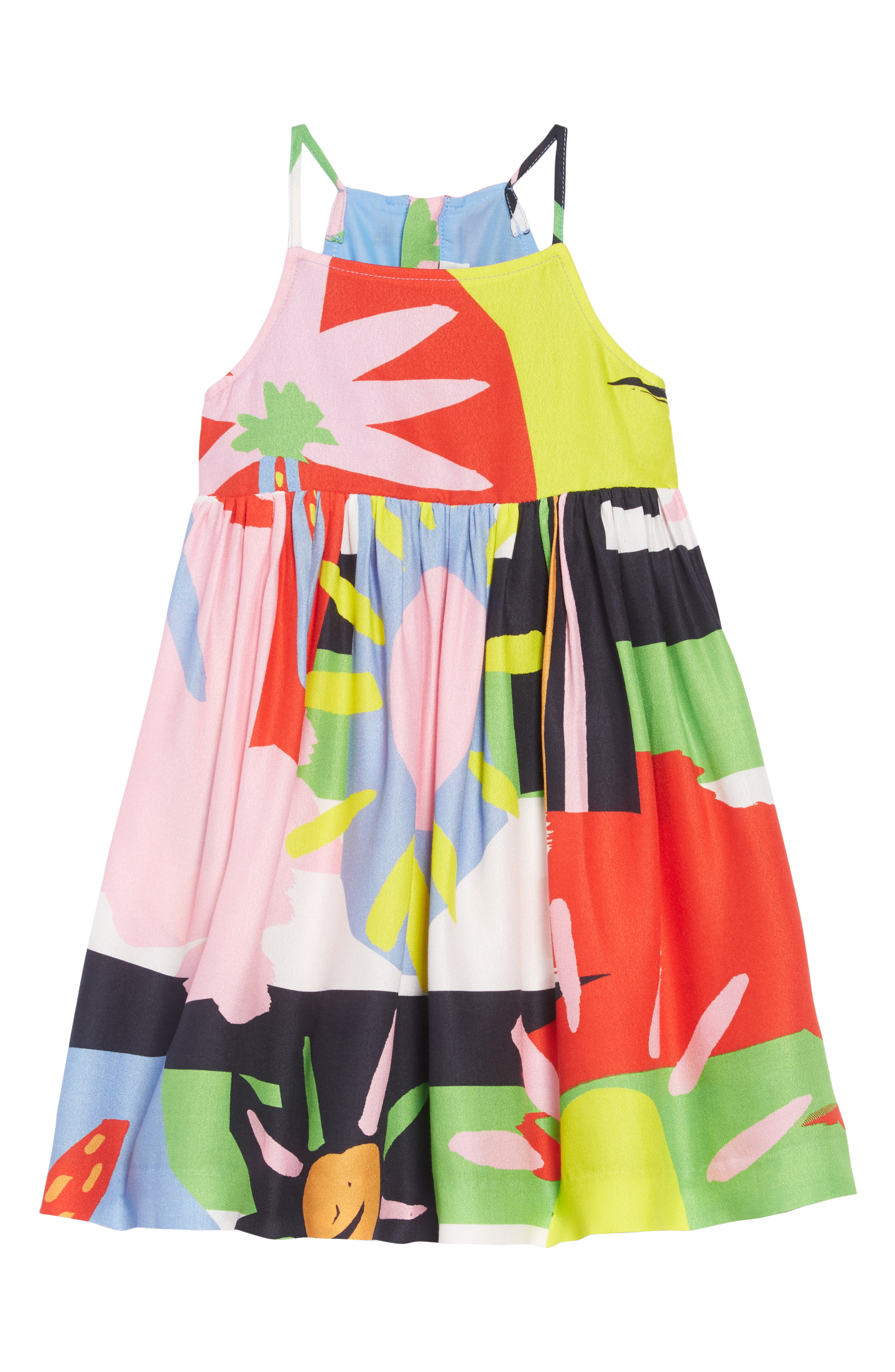 9ff6b594ea296 Girl's Stella Mccartney Abstract Print Dress, Size 14Y - Pink ...