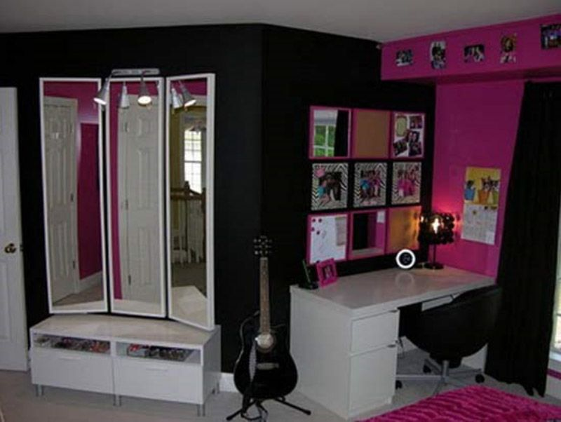 Permanent Link To : Stylish Pink Girls Bedroom In Rock N Roll Decor Ideas