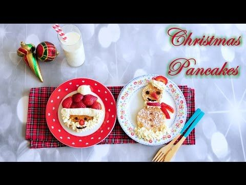 uTry.it: Christmas Breakfast: Santa Claus and Snowman Pancakes