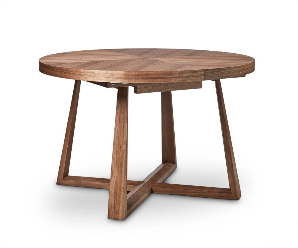 Oliver Round Extension Dining Table Round Extendable Dining Table Round Wood Dining Table Mcm Dining Table