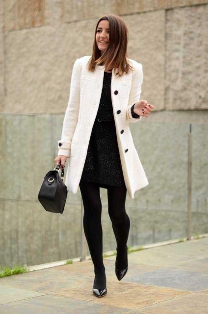f26c376987 vestido e meia calça e sobretudo