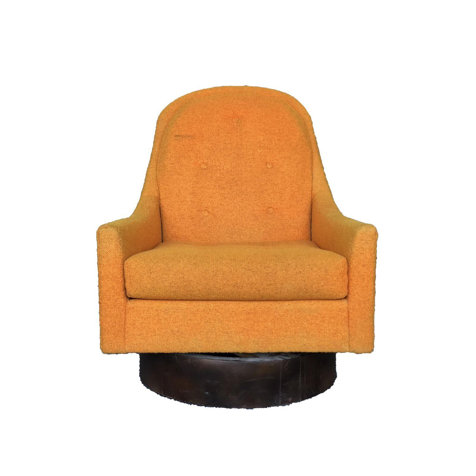 Mid Century Yellow Floating Lounge Chair: Mid-Century Modern Milo Baughman Style Floating Orange