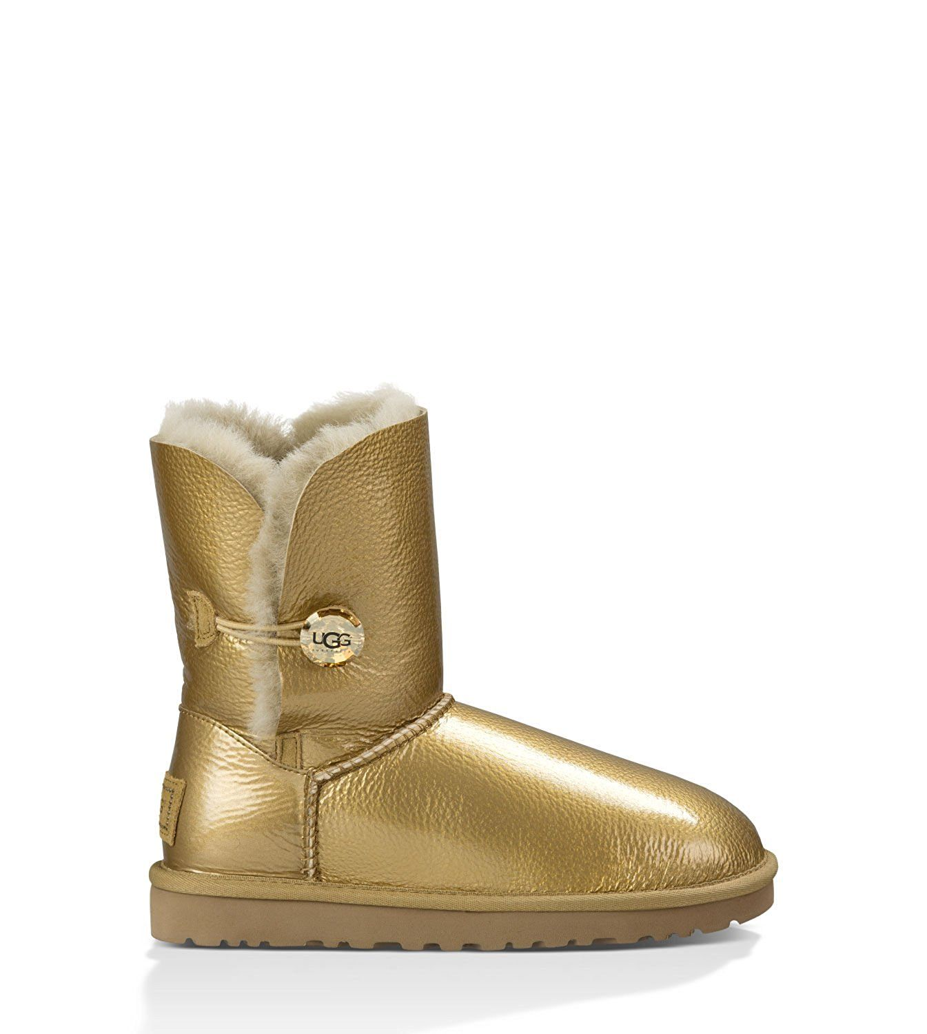 UGG Women's Bailey Button Mirage Soft Gold Twinface Boot