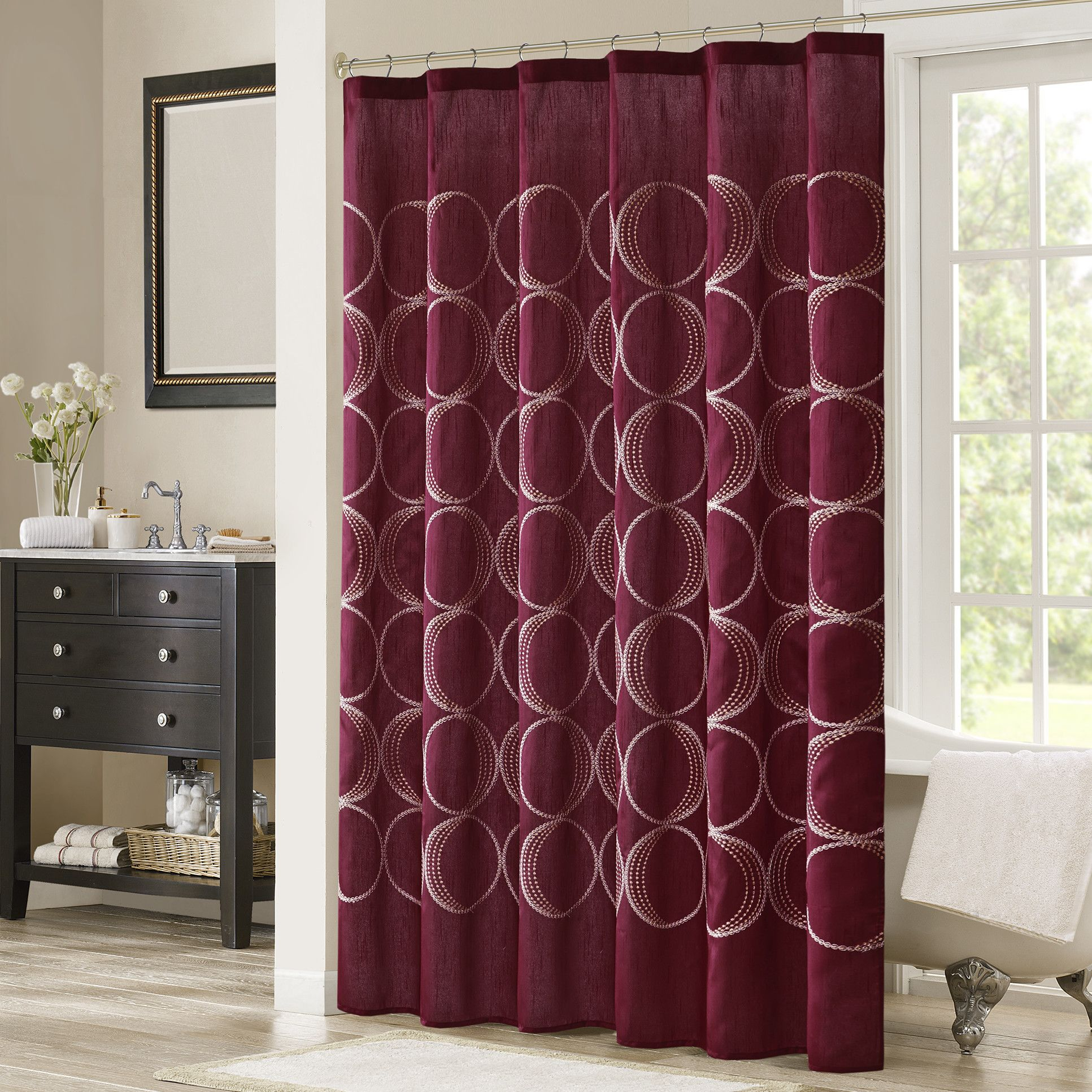 Keaton embroidered shower curtain products pinterest products