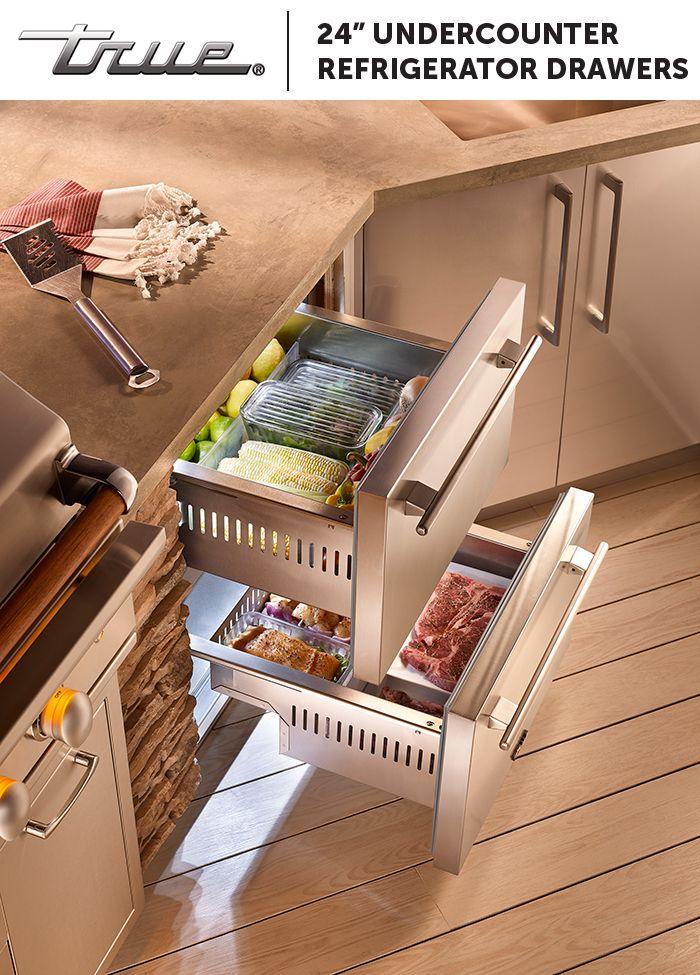 Refrigerators Are An Integral Part Outdoor Kitchen Design Imagine Refrigerator Drawers Next Outdoor Kitchen Outdoor Kitchen Appliances Outdoor Kitchen Design