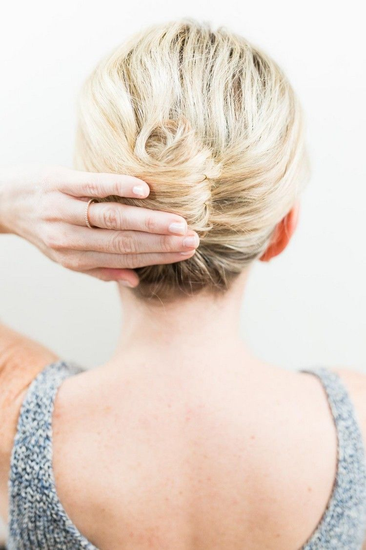 French twist hairstyle - The classic updo for long and short hair